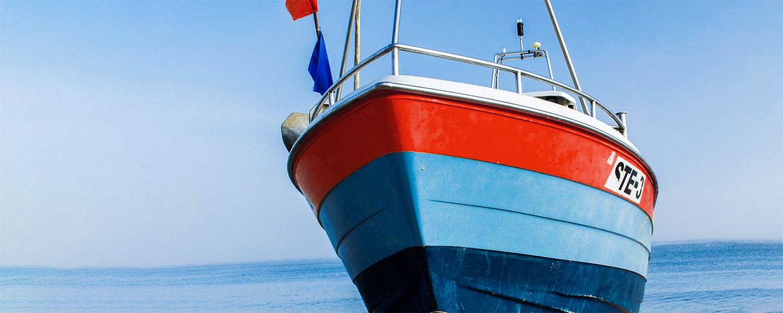 Farben-Fischer Boot Kategorie Bild